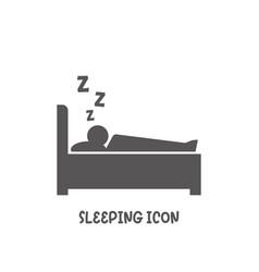 sleep icon simple flat style vector image