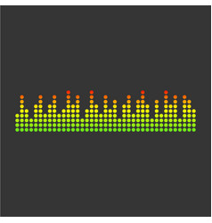 Sound waveforms icon pixel vector