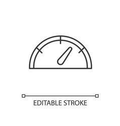 Speedometer linear icon vector