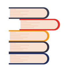 stacked books learning vector image