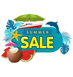 summer sale sticker or banner vector image