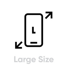 tech specs large size phone icon editable line vector image