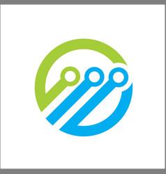 technology abstract logo circle vector image