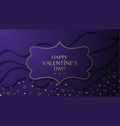 the valentine s day cut paper effect background vector image