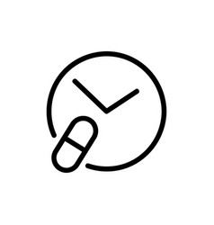 time taking medication icon isolated vector image