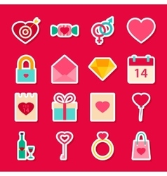 Valentine Day Love Stickers vector