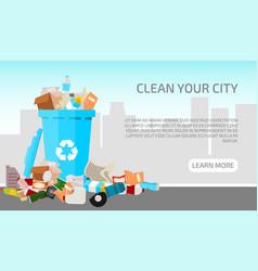Waste city concept banner vector
