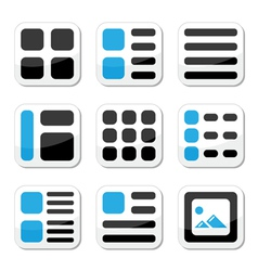 Website display options and photo gallery icons vector image