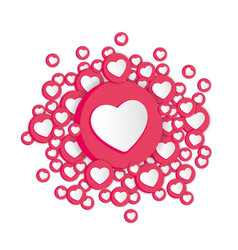 white background with hearts signs social network vector image
