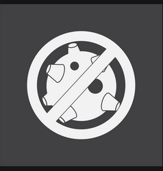 White icon on black background no satellites vector