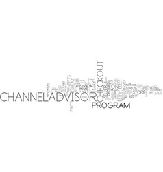 why channeladvisor may be for you text word cloud vector image