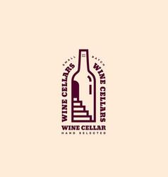 wine cellar logo vector image