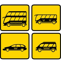 Yellow passenger transport icon vector