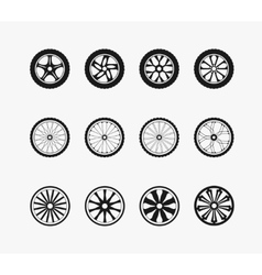 Bike car and wooden wheels vector image