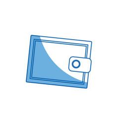 cartoon wallet money concept safety bank icon vector image vector image