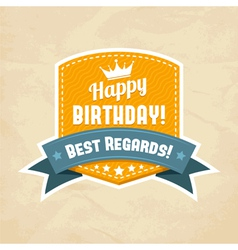 for happy birthday card vector image vector image