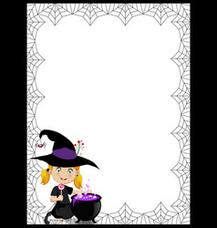 halloween template with space for text and of vector image