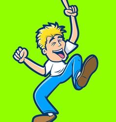 Happy Man Dancing vector image vector image