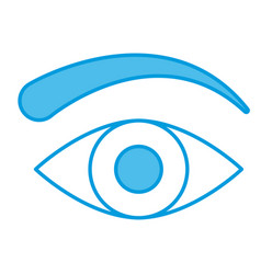 human eye symbol vector image vector image
