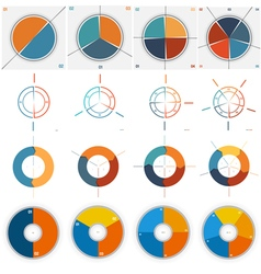 Templates for Infographics set 2 3 4 5 vector image vector image