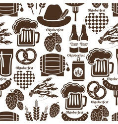 Oktoberfest seamless background pattern vector image vector image