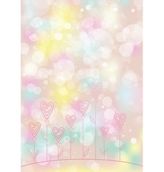 Valentines love flower background vector image