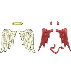 Cartoon wings vector image vector image