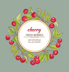 cherry frame vector image