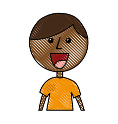 little african boy character vector image