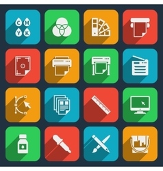 Publisher and printing house icons vector image