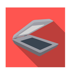 scanner icon in flat style isolated on white vector image