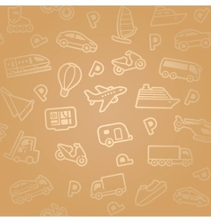 transport icon pattern vector image vector image