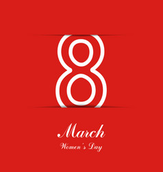 8 march background womens day banner eps10 vect vector image
