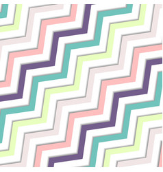 abstract oblique wavy zigzag pastels color vector image