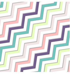 Abstract oblique wavy zigzag pastels color vector