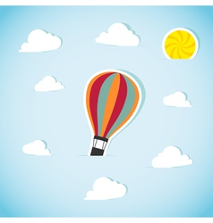 Abstract paper air balloon vector image