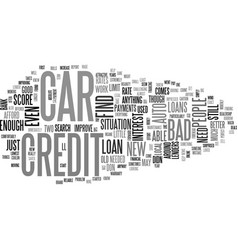 Auto loans for people with bad credit insanity vector