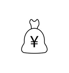 bag yuan icon element of finance signs and vector image