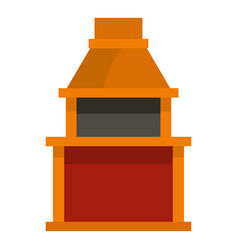 barbecue gas grill icon isolated vector image