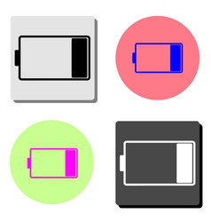 battery low charging flat icon vector image