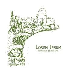 Botanical garden sketch for your design vector