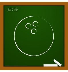 bowling ball icon Eps10 vector image