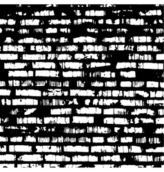 brick wall black and white relief texture vector image