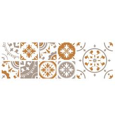 bundle decorative square ceramic tiles vector image