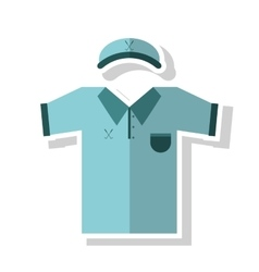 Cap and tshirt of golf sport design vector