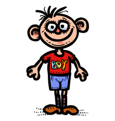 cartoon image of boy icon man symbol vector image