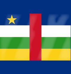 Central african republic flag vector