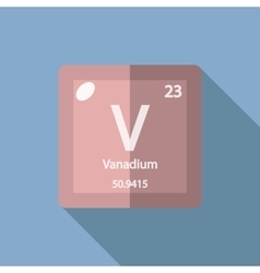Chemical element Vanadium Flat vector image