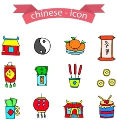 Chinese element icons vector