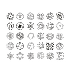 Circular pattern set vector image